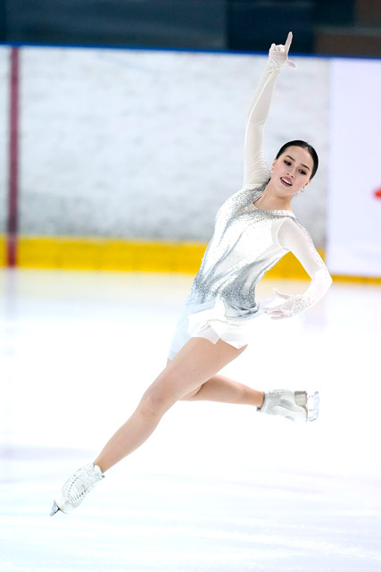 「au5G×Figure Skating」アリーナ・ザギトワ