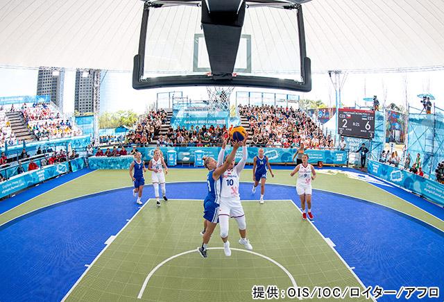 「3×3バスケットボール」提供:OIS/IOC/ロイター/アフロ