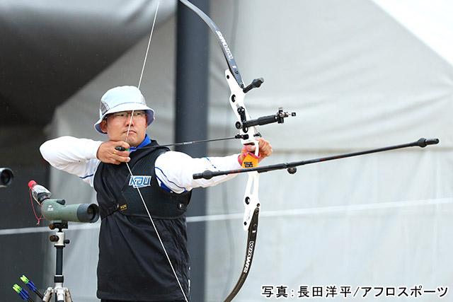 「アーチェリー/古川高晴」写真:長田洋平/アフロスポーツ
