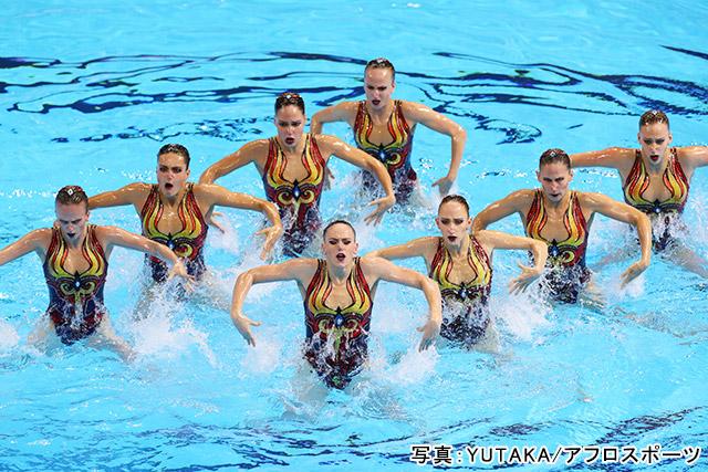 「アーティスティックスイミング」写真:YUTAKA/アフロスポーツ