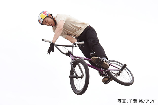 BMX・フリースタイル(中村輪夢) 写真:千葉 格/アフロ