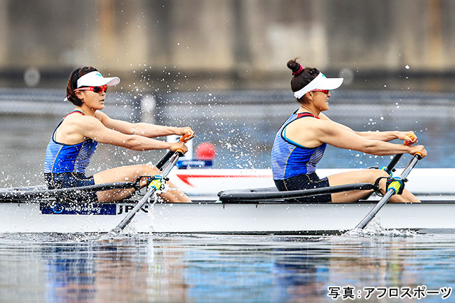 ボート(大石綾美・冨田千愛)写真:アフロスポーツ