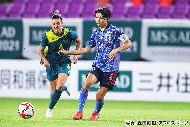 サッカー女子(熊谷紗希)写真:森田直樹/アフロスポーツ