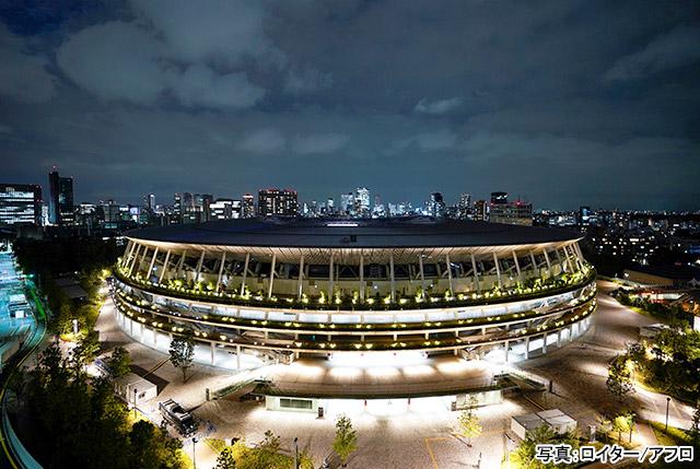 東京2020開会式(国立競技場) 写真:ロイター/アフロ