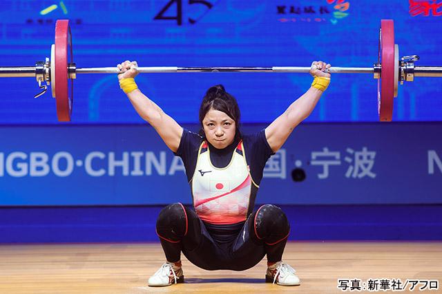 ウエイトリフティング(三宅宏実)写真:新華社/アフロ