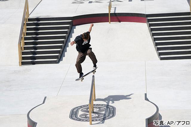 スケートボード(堀米雄斗)写真:AP/アフロ