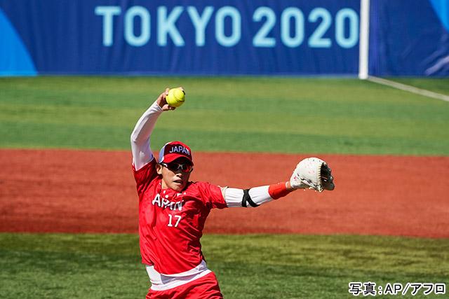 東京2020オリンピック ソフトボール(上野由岐子)写真:AP/アフロ