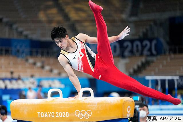 東京2020オリンピック 体操男子 団体・決勝(橋本大輝)写真:AP/アフロ