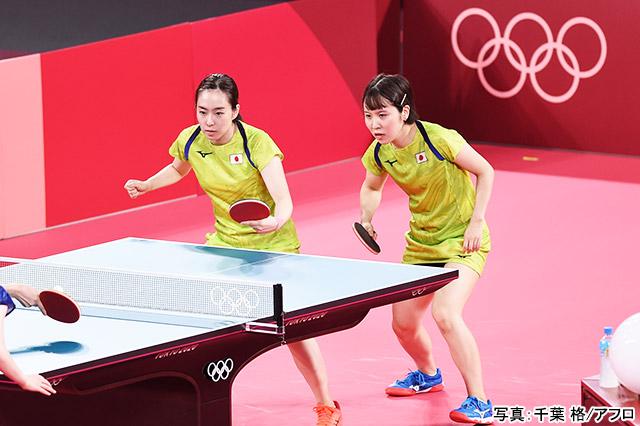 東京2020オリンピック 卓球(石川佳純・平野美宇)写真:千葉 格/アフロ