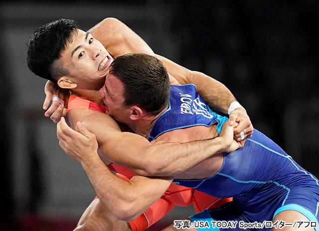 東京2020オリンピック レスリング(文田健一郎)写真:USA TODAY Sports/ロイター/アフロ