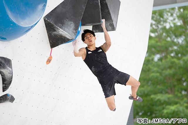 東京2020オリンピック スポーツクライミング(楢崎智亜)写真:JMSCA/アフロ