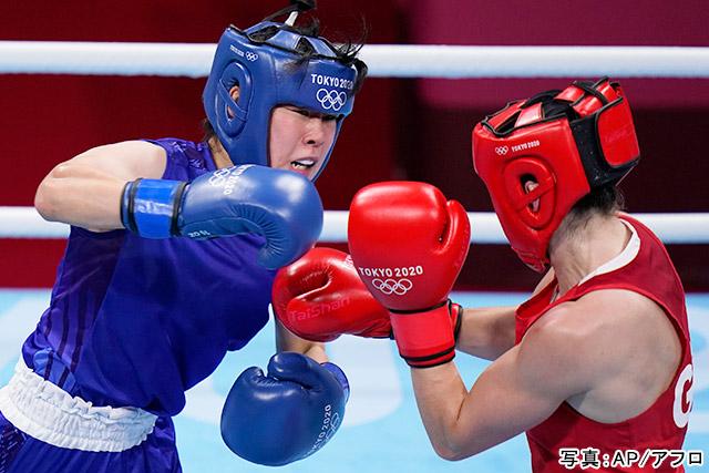 東京2020オリンピック ボクシング(入江聖奈)写真:AP/アフロ