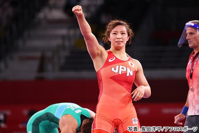 東京2020オリンピック レスリング女子(川井友香子)写真:長田洋平/アフロスポーツ