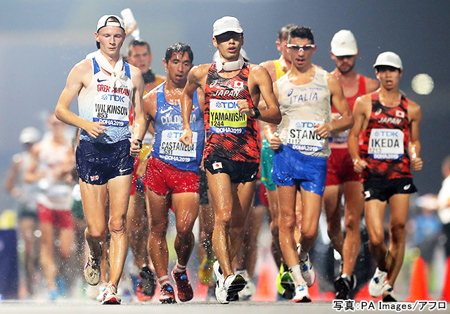 競歩(山西利和)写真:PA Images/アフロ