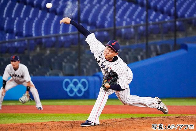 東京2020オリンピック 野球(栗林良吏)写真:AP/アフロ