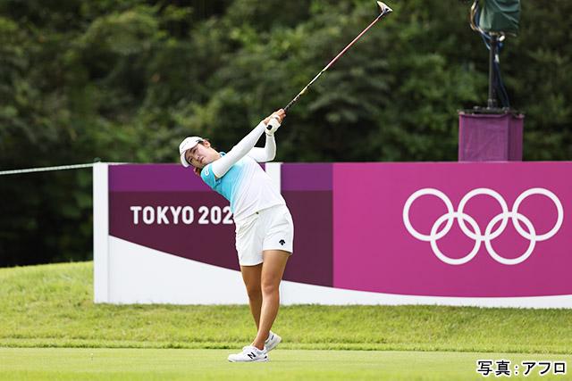 東京2020オリンピック ゴルフ(稲見萌寧)写真:アフロ