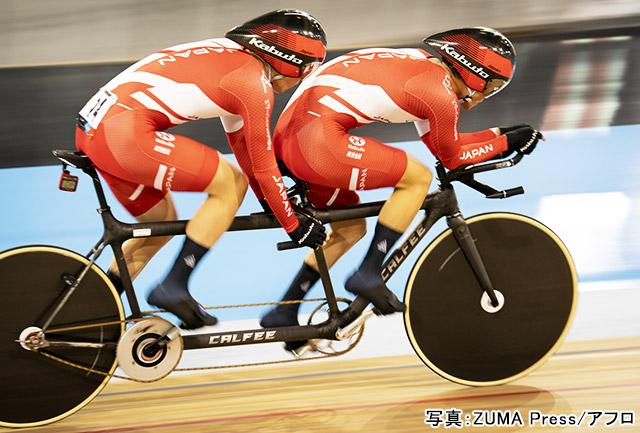 パラリンピック 自転車(木村和平/倉林巧和)写真:ZUMA Press/アフロ