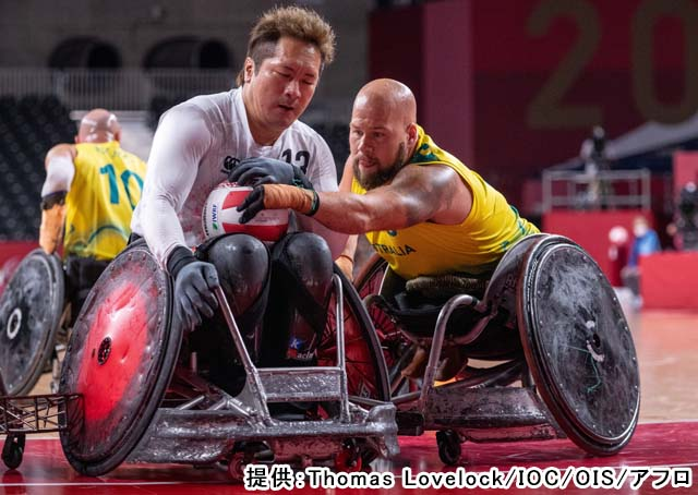 2020 東京パラリンピック 車椅子ラグビー 予選(提供:Thomas Lovelock/IOC/OIS/アフロ)