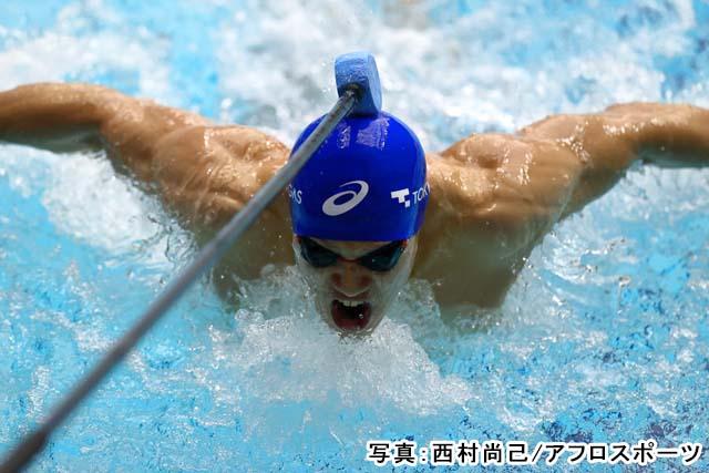 2021 ジャパンパラ 水泳 男子 100m バタフライ S11 予選(木村敬一)