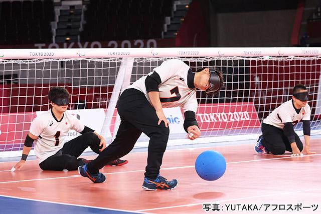 東京2020パラリンピック ゴールボール(金子和也・川嶋悠太・佐野優人)写真:YUTAKA/アフロスポーツ