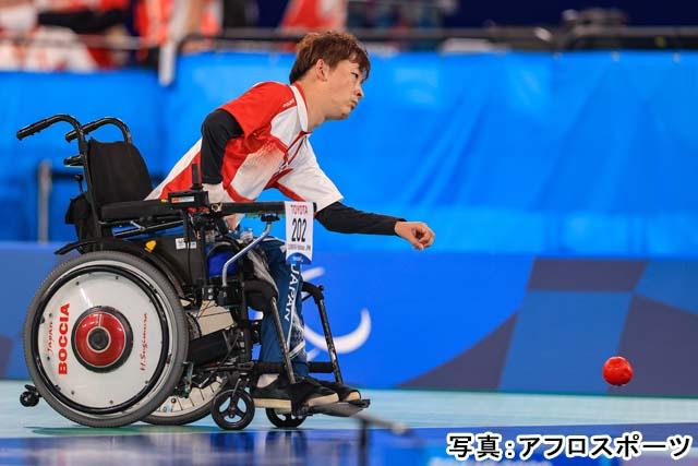 2020 東京パラリンピック ボッチャ 混合個人 BC2 予選 キャプション(杉村英孝)