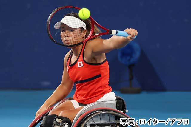 2020 東京パラリンピック 車椅子テニス 女子 シングルス 準決勝(上地結衣)